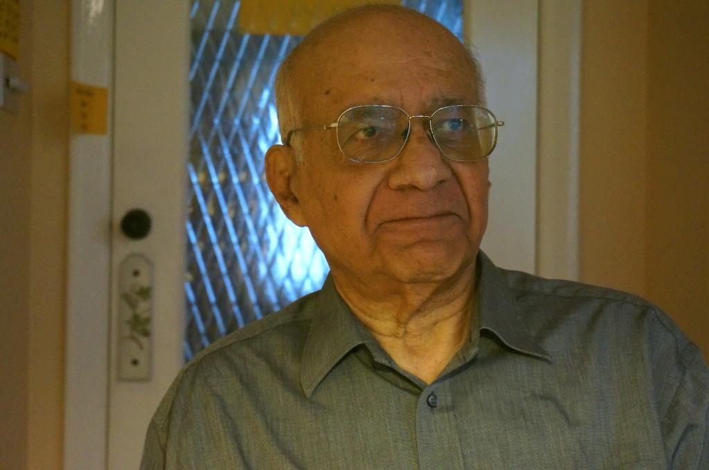 Obhi's father in November 2014
