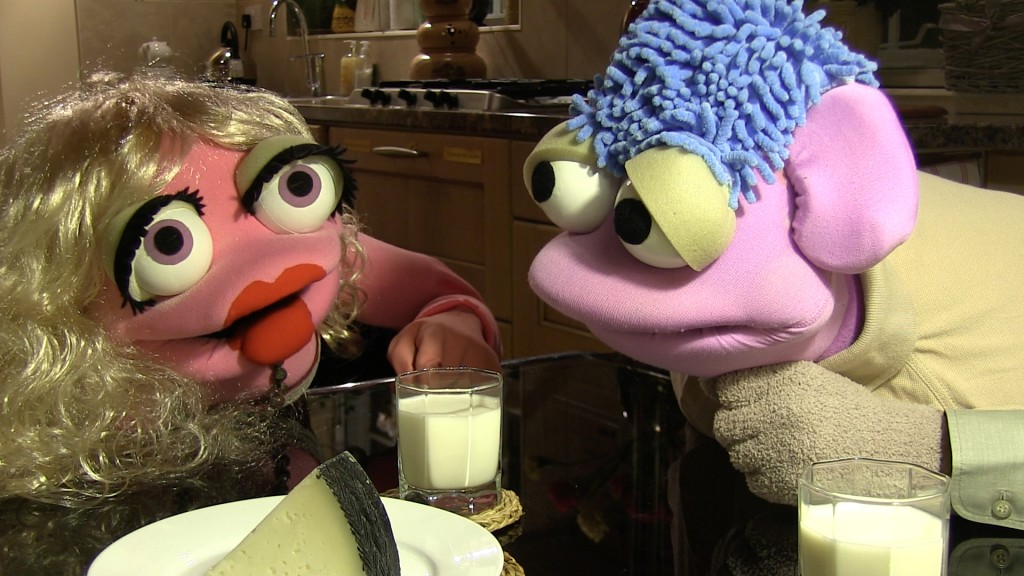 Alph & Chah-Lee eating cheese and drinking milk